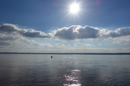 River Mersey with Sun